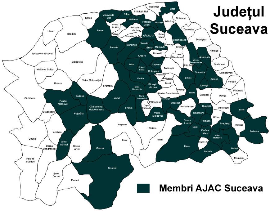 harta membri AJAC Suceava